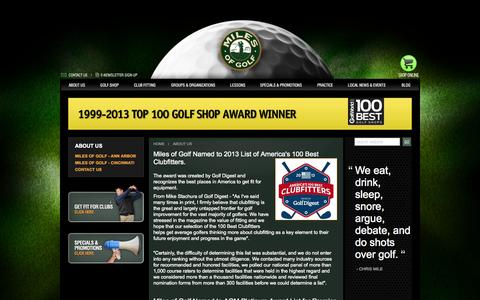 Screenshot of About Page milesofgolf.com - Miles of Golf :: About Us - captured Oct. 27, 2014