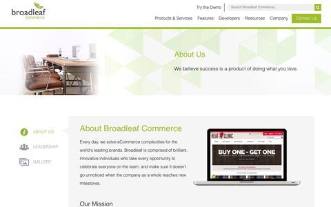 Screenshot of About Page broadleafcommerce.com - About Us - Broadleaf Commerce - captured June 3, 2017