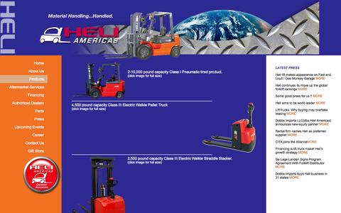 Screenshot of Products Page heliamericas.com - Heli Americas   Dealers - captured Sept. 29, 2014