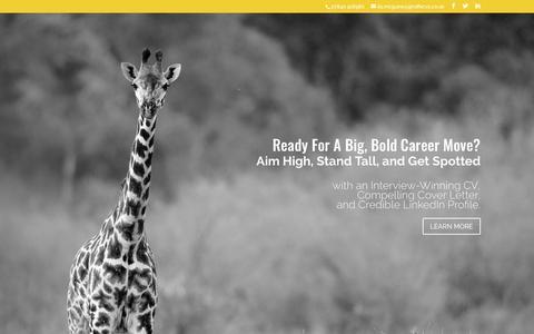 Screenshot of Home Page giraffecvs.co.uk - Giraffe CVs Graduate, Professional & Executive CV Writing Service - captured Sept. 28, 2018
