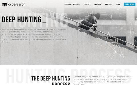 Cyber Threat Hunting Services - Deep Hunting | Cybereason