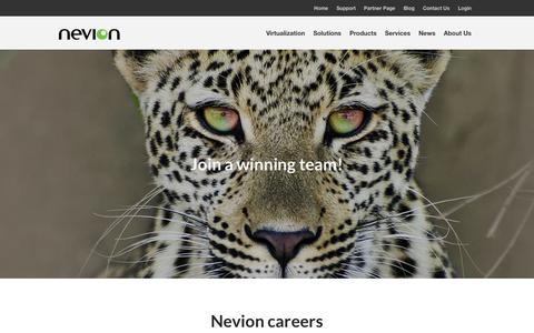 Screenshot of Jobs Page nevion.com - Careers - Nevion - captured Aug. 11, 2016