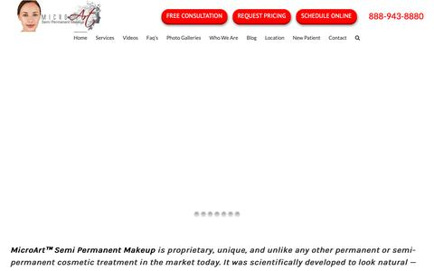 Screenshot of Home Page microartmakeup.com - MicroArt Semi Permanent Makeup for Eyebrows, Eyeliner, Lips, and More - captured May 17, 2019
