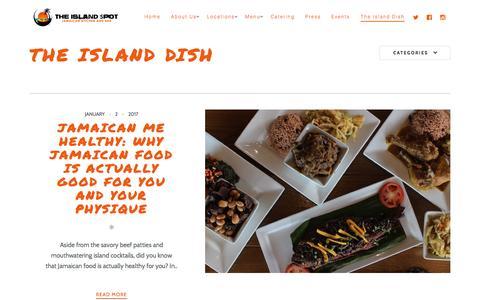 Screenshot of Blog theislandspot.com - The Island Dish - The Island Spot - captured Jan. 21, 2017