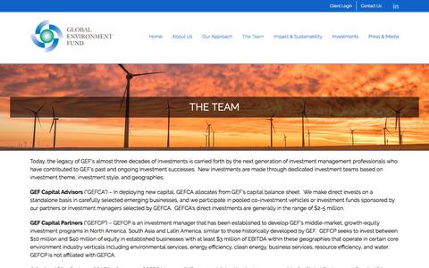 Screenshot of Team Page globalenvironmentfund.com - The Team | Global Environment Fund (GEF) - captured July 19, 2018