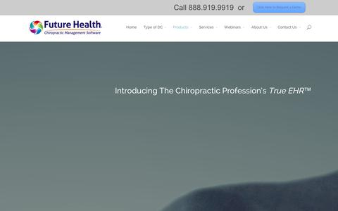 Screenshot of Products Page futurehealthsoftware.com - SmartCloud / SmartServer - Future Health Software - captured Sept. 12, 2014