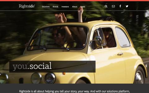 Screenshot of Home Page rightside.co - Rightside   Inspiring possibilities in digital identity. - captured Oct. 23, 2015
