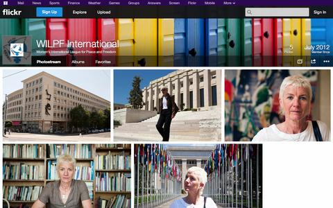 Screenshot of Flickr Page flickr.com - Flickr: Women's International League for Peace and Freedom's Photostream - captured Oct. 26, 2014