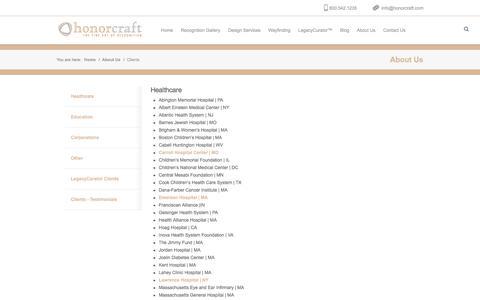 Screenshot of Testimonials Page honorcraft.com - Honorcraft Honorcraft clients - captured Sept. 2, 2017