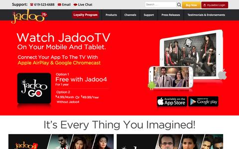 JadooTV | Internet based Set Top Box | South Asian Channels