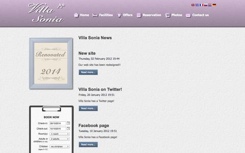 Screenshot of Press Page villa-sonia.com - VILLA SONIA Apartments - Hersonissos - Crete - Villa Sonia News - captured Oct. 9, 2014