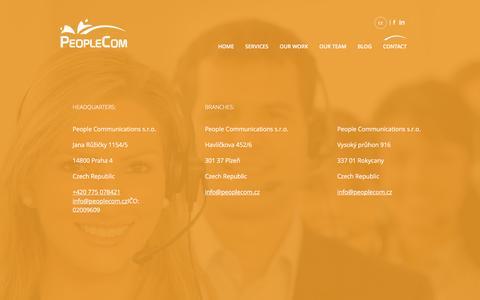 Screenshot of Contact Page peoplecom.cz - Contact   Marketingová agentura - captured Nov. 1, 2016