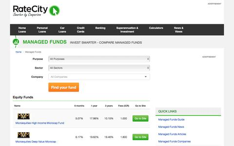 Managed Funds | RateCity