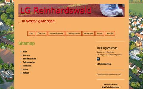 Screenshot of Site Map Page jimdo.com - Sitemap - LG Reinhardswald - captured March 29, 2017