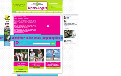 Screenshot of Home Page tennisangels.com - tennisangels - captured Oct. 7, 2014
