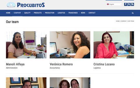 Screenshot of Team Page procubitos.com - Procubitos - Ice cubes manufacturing and international distribution - captured Feb. 21, 2018