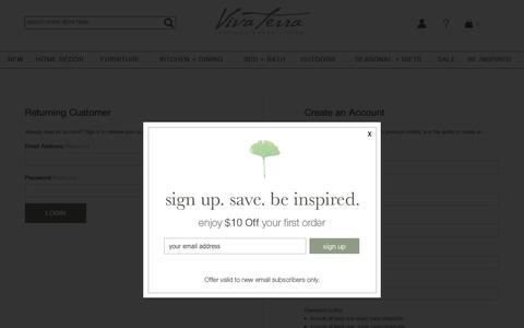 Screenshot of Login Page vivaterra.com - Login | VivaTerra - captured June 13, 2019