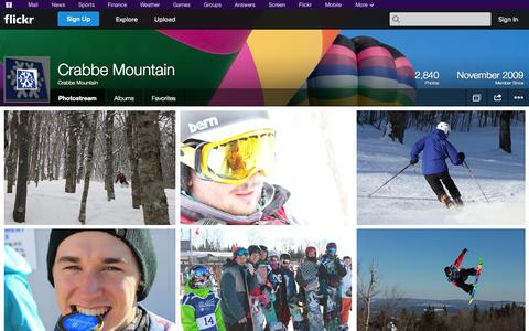 Screenshot of Flickr Page flickr.com - Flickr: Crabbe Mountain's Photostream - captured Oct. 23, 2014