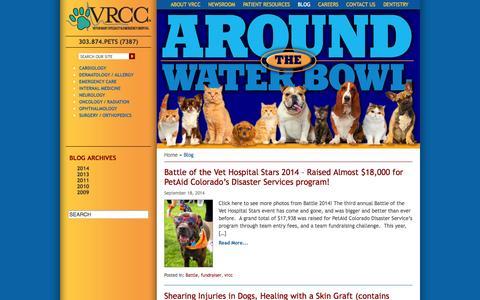 Screenshot of Blog vrcc.com - Blog - Veterinary Specialty & Emergency Hospital - captured Oct. 7, 2014