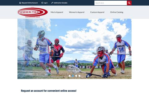 Screenshot of Home Page power-tek.com - Power-Tek Performance Gear - captured Aug. 17, 2017