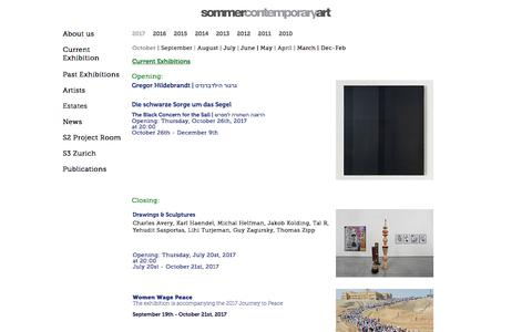 Screenshot of Press Page sommergallery.com - News December - February 2017 | Sommer Contemporary Art - captured Oct. 22, 2017