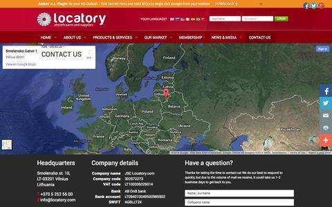 Screenshot of Contact Page locatory.com - Contact us - Locatory.com - captured Oct. 3, 2014