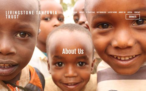 Screenshot of About Page livingstonetanzaniatrust.com - Trustees, staff,  Partnership and governance — Livingstone Tanzania Trust - captured July 20, 2018