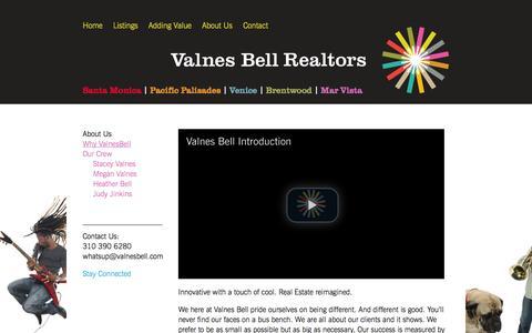 Screenshot of About Page valnesbell.com - Why ValnesBell | Valnes Bell Realtors  – Santa Monica | Pacific Palisades | Venice | Brentwood | Mar Vista - captured Oct. 9, 2014