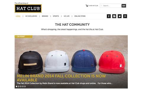 Screenshot of Blog hatclub.com - Hat Club   HomeHome - Hat Club - captured Sept. 24, 2014