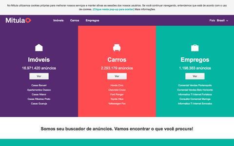 Screenshot of Home Page mitula.com.br - Buscador de imóveis, carros e emprego no Brasil   Mitula - captured Aug. 21, 2016