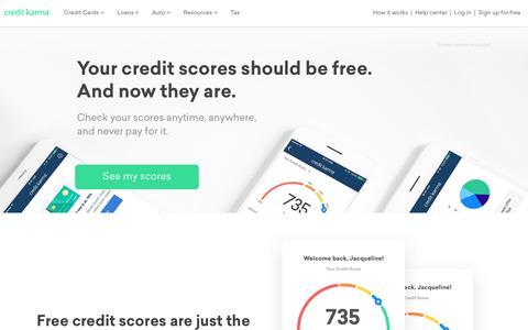 Free Credit Score &  Free Credit Reports With Monitoring | Credit Karma