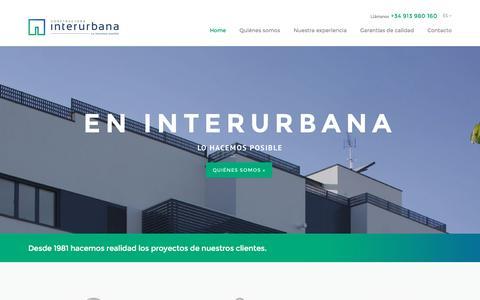 Screenshot of Home Page interurbana.com - Constructora Interurbana - captured Oct. 8, 2016