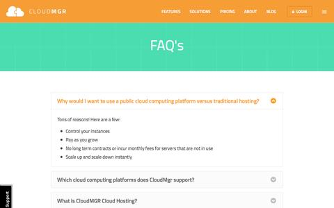 Frequently Asked Questions | CloudMGR