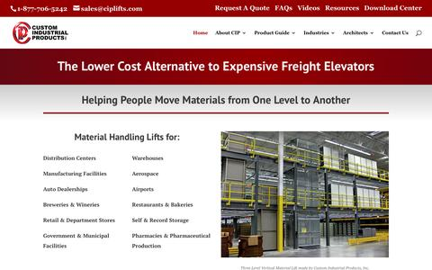 The Lower Cost Alternative to Expensive Freight Elevators