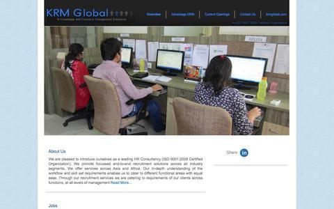 Screenshot of Jobs Page krmglobal.com - KRM Global Jobs – Jobs in KRM Global - Career in KRM Global – Job Openings in KRM Global - captured Oct. 6, 2014