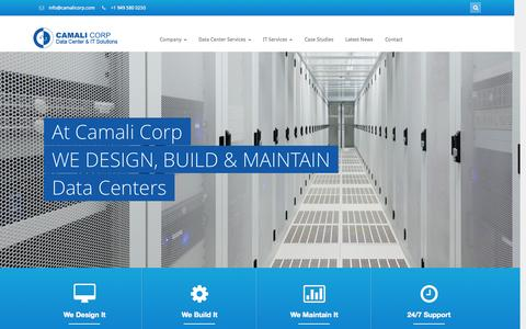 Screenshot of Services Page camalicorp.com - Camali Corp  Data Center & IT Solutions - captured Sept. 26, 2014