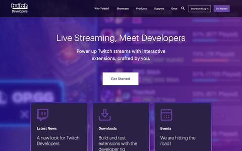 Home | Twitch Developers