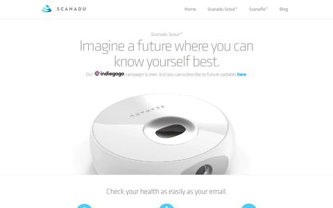 Screenshot of Home Page scanadu.com - Scanadu | - captured July 11, 2014