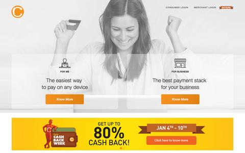 Screenshot of Home Page citruspay.com - Citruspay - captured Jan. 1, 2016