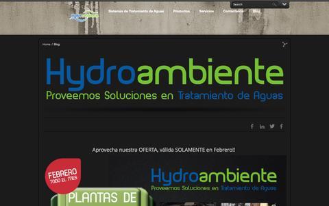 Screenshot of Blog hydroambiente.com.gt - Blog   - captured Sept. 30, 2014
