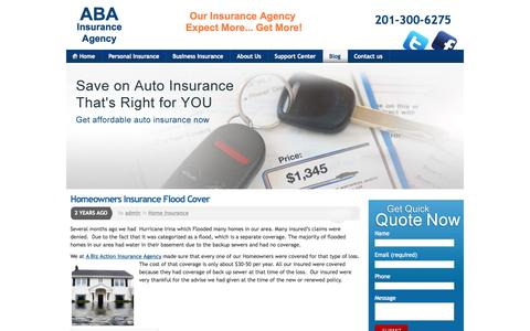 Screenshot of Blog abainsuranceagency.net - A Biz Action Insurance Agency  Blog |  Insurance Agent Blog |  | ABA Insurance Agency - captured Oct. 8, 2014