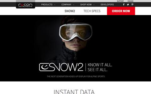 Screenshot of Products Page reconinstruments.com - Snow2 - captured Oct. 30, 2014