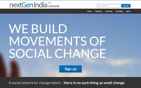 Screenshot of Home Page nextgenindia.com - nextGen India || the voice of young india - captured Oct. 9, 2014