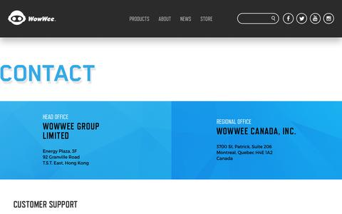 Screenshot of Contact Page wowwee.com - WowWee Address and Contact Info - captured Feb. 17, 2018