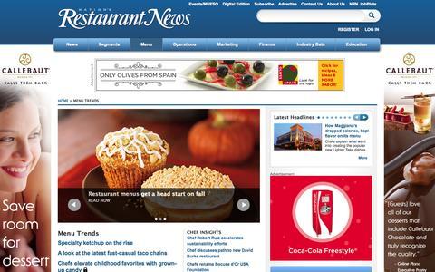 Screenshot of Menu Page nrn.com - Menu Trends   Nation's Restaurant News - captured Sept. 19, 2014