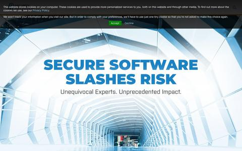 Screenshot of Home Page securityinnovation.com - Application Security Testing, Training and Web Application Cyber Range | Security Innovation - captured March 2, 2019