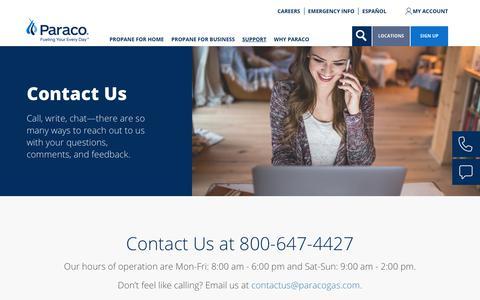 Screenshot of Contact Page paracogas.com - Contact Us | paracogas - captured Sept. 26, 2018
