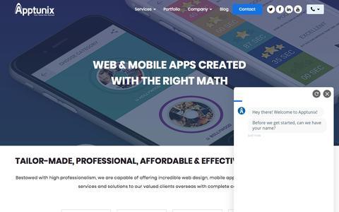 Screenshot of Services Page apptunix.com - Mobile App Development Services India, USA, UK | Apptunix - captured Sept. 11, 2019