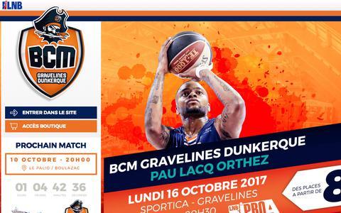 Screenshot of Home Page bcmbasket.com - BCM - captured Oct. 9, 2017