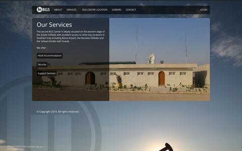 Screenshot of Services Page berjisiya.com - Services - captured Oct. 5, 2014
